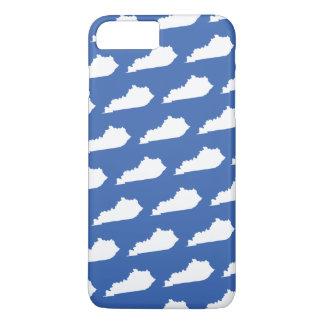 Capa iPhone 8 Plus/7 Plus Teste padrão do estado de Kentucky no azul