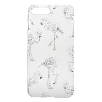 Capa iPhone 8 Plus/7 Plus Teste padrão do flamingo