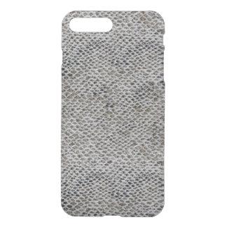 Capa iPhone 8 Plus/7 Plus Teste padrão do preto e da pele de cobra de Brown