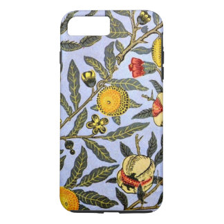 Capa iPhone 8 Plus/7 Plus Teste padrão do vintage de William Morris, fruta