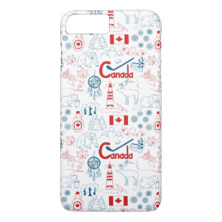 Capa iPhone 8 Plus/7 Plus Teste padrão dos símbolos de Canadá |