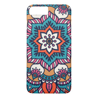 Capa iPhone 8 Plus/7 Plus Teste padrão floral colorido do caso do iPhone 7