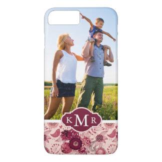 Capa iPhone 8 Plus/7 Plus Teste padrão floral feito sob encomenda da foto &