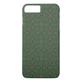 Capa iPhone 8 Plus/7 Plus Teste padrão geométrico árabe egípcio no verde