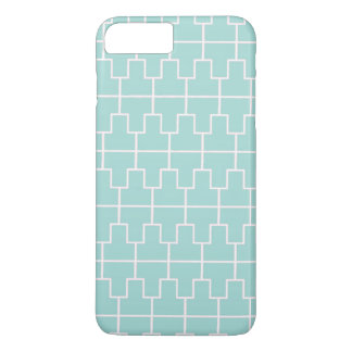 Capa iPhone 8 Plus/7 Plus Teste padrão geométrico azul e branco