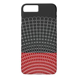 Capa iPhone 8 Plus/7 Plus Teste padrão geométrico do planeta vermelho