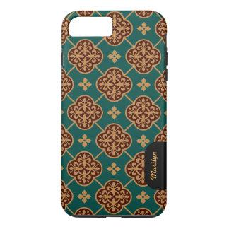 Capa iPhone 8 Plus/7 Plus Teste padrão medieval floral CC0905 Augustus Pugin