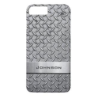 Capa iPhone 8 Plus/7 Plus Teste padrão metálico cortado da placa do metal