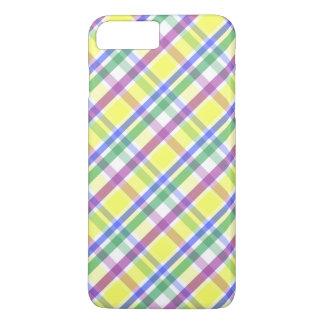 Capa iPhone 8 Plus/7 Plus Teste padrão Pastel da xadrez da páscoa