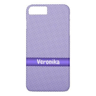 Capa iPhone 8 Plus/7 Plus Teste padrão pequeno violeta da xadrez