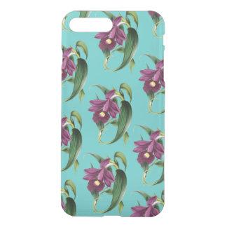 Capa iPhone 8 Plus/7 Plus Teste padrão roxo da cerceta das orquídeas