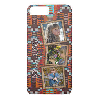 Capa iPhone 8 Plus/7 Plus Teste padrão tribal indiano do nativo americano