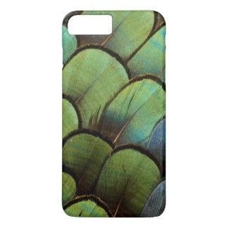 Capa iPhone 8 Plus/7 Plus Teste padrão verde do geather do faisão
