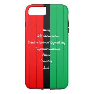 Capa iPhone 8 Plus/7 Plus Teste padrão verde preto vermelho das listras dos