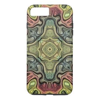 Capa iPhone 8 Plus/7 Plus Teste padrão vermelho do Batik de Bali da cerceta