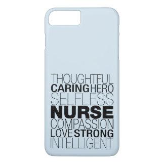 Capa iPhone 8 Plus/7 Plus Texto da enfermeira