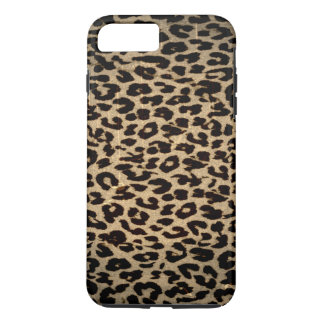 Capa iPhone 8 Plus/7 Plus Textura animal do vintage do leopardo