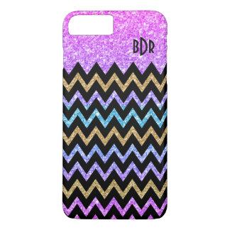Capa iPhone 8 Plus/7 Plus Textura colorida geométrica moderna Chevron do