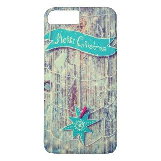 Capa iPhone 8 Plus/7 Plus Textura de madeira da estrela da decoração do