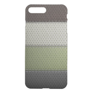 Capa iPhone 8 Plus/7 Plus texturas verdes pretas marrons do material do