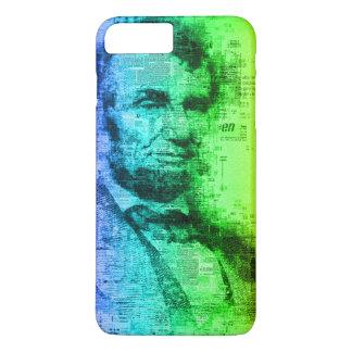 Capa iPhone 8 Plus/7 Plus Tipografia do arco-íris do presidente Abraham