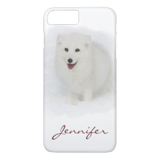 Capa iPhone 8 Plus/7 Plus Todo o Fox ártico branco