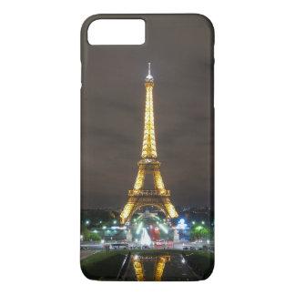 Capa iPhone 8 Plus/7 Plus Torre Eiffel na noite, Paris