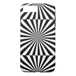 Capa iPhone 8 Plus/7 Plus ~ transparente dos RAIOS (um design preto &