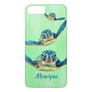 Capa iPhone 8 Plus/7 Plus Três tartarugas de mar que nadam