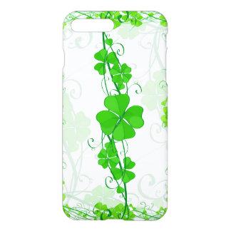Capa iPhone 8 Plus/7 Plus Trevo afortunado verde