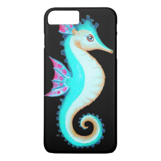 Capa iPhone 8 Plus/7 Plus Turquesa do cavalo marinho