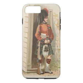Capa iPhone 8 Plus/7 Plus Um soldado do Scottish do vintage