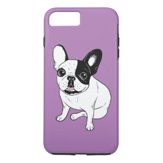 Capa iPhone 8 Plus/7 Plus Único Frenchie Pied rajado encapuçado
