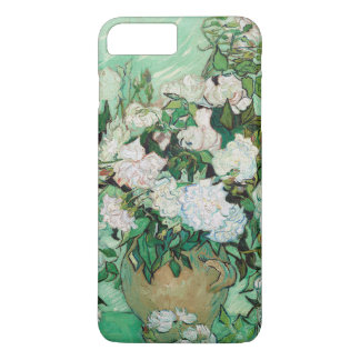 Capa iPhone 8 Plus/7 Plus Vaso de Van Gogh com pintura floral dos rosas