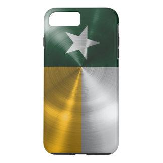 Capa iPhone 8 Plus/7 Plus Verde e radial da bandeira de Texas do ouro