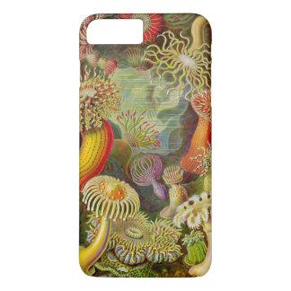 Capa iPhone 8 Plus/7 Plus Vida do oceano do Actinae de Ernst Haeckel