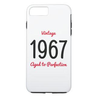 Capa iPhone 8 Plus/7 Plus Vintage 1967 envelhecido ao presente de