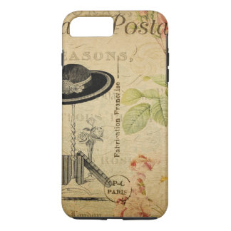 Capa iPhone 8 Plus/7 Plus Vintage Paris - chique