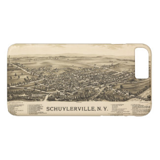 Capa iPhone 8 Plus/7 Plus Vista aérea de Schuylerville, New York (1889)