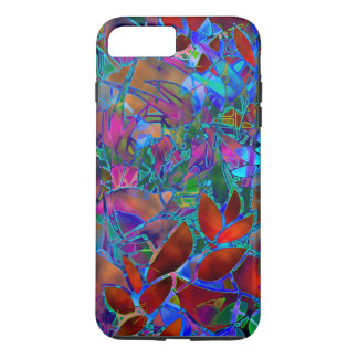 Capa iPhone 8 Plus/7 Plus vitral abstrato floral do caso positivo do iPhone