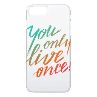 Capa iPhone 8 Plus/7 Plus Você vive somente uma vez! Branco