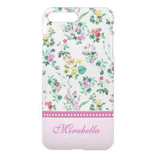 Capa iPhone 8 Plus/7 Plus Wildflowers & rosas amarelos vermelhos roxos