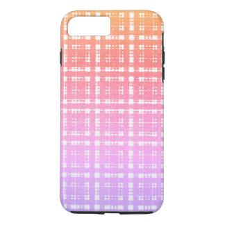 Capa iPhone 8 Plus/7 Plus Xadrez moderna cor-de-rosa Ombre da lavanda