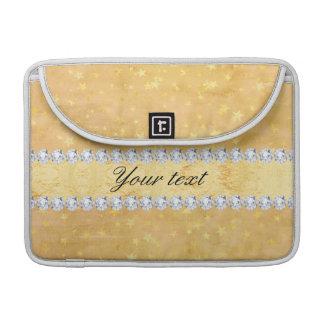 Capa MacBook Pro A folha de ouro da aguarela Stars diamantes