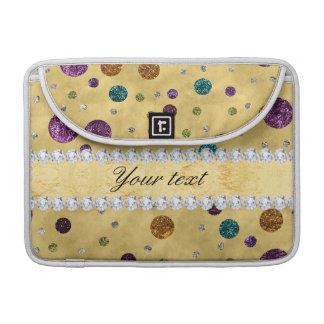 Capa MacBook Pro Bolinhas e diamantes do brilho