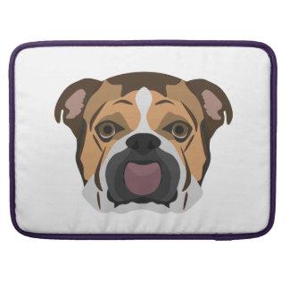 Capa MacBook Pro Buldogue do inglês da ilustração