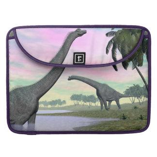 Capa MacBook Pro Dinossauros do Brachiosaurus na natureza - 3D
