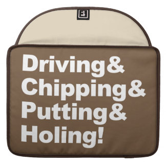 Capa MacBook Pro Driving&Chipping&Putting&Holing (branco)
