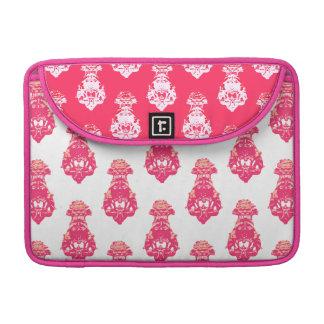 Capa MacBook Pro Fundo vermelho/cor-de-rosa do vintage da cor