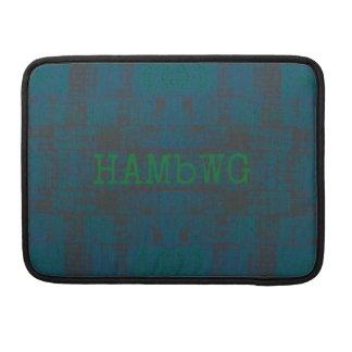 Capa MacBook Pro HAMbWG - luva de Macbook do rickshaw -